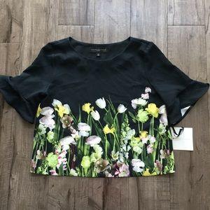 Victoria Beckham for Target Floral Print Blouse L